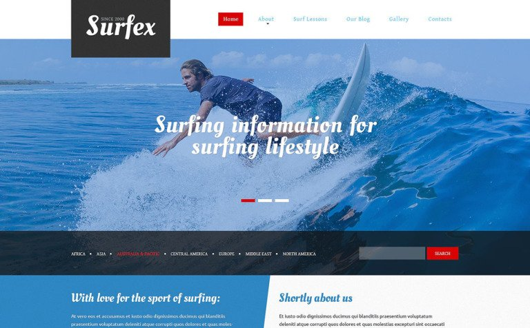 Surfing Blog Joomla Template