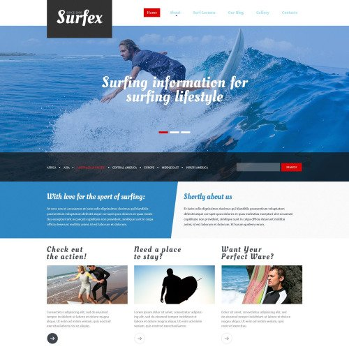 Surfex - Surfing Club Template based on Bootstrap