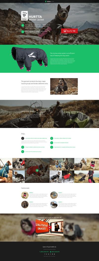 Szablon Landing Page #53204 na temat: Zwierzęta