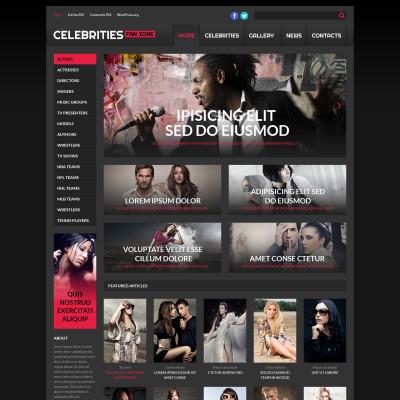Plantillas WordPress para Sitios de Celebridades   TemplateMonster