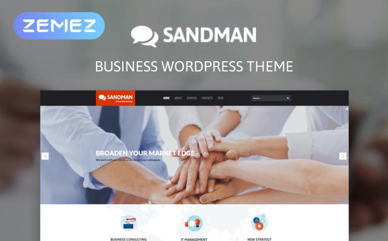 Tema de WordPress #53265 para Sitio de Consultoría