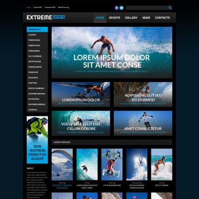 Tema de WordPress #53259 para Sitio de Deportes extremos
