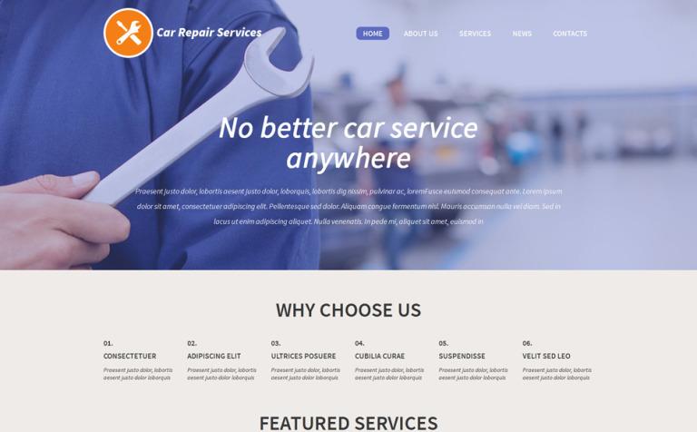 Tema de WordPress #53297 para Sitio de Reparación de coches