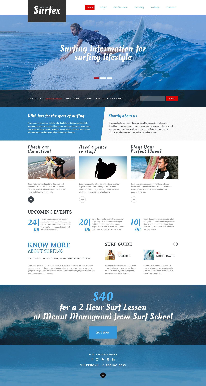 "Tema Joomla Responsive #53250 ""Surfing Blog"" - screenshot"