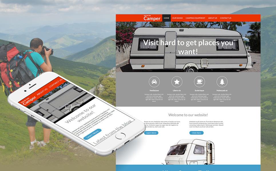 Template Moto CMS HTML para Sites de Acampamento №53230 New Screenshots BIG