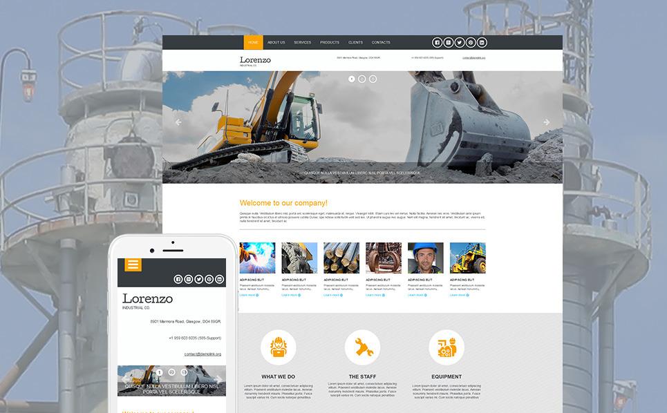 Templates Moto CMS 3 Flexível para Sites de Industrial №53238 New Screenshots BIG