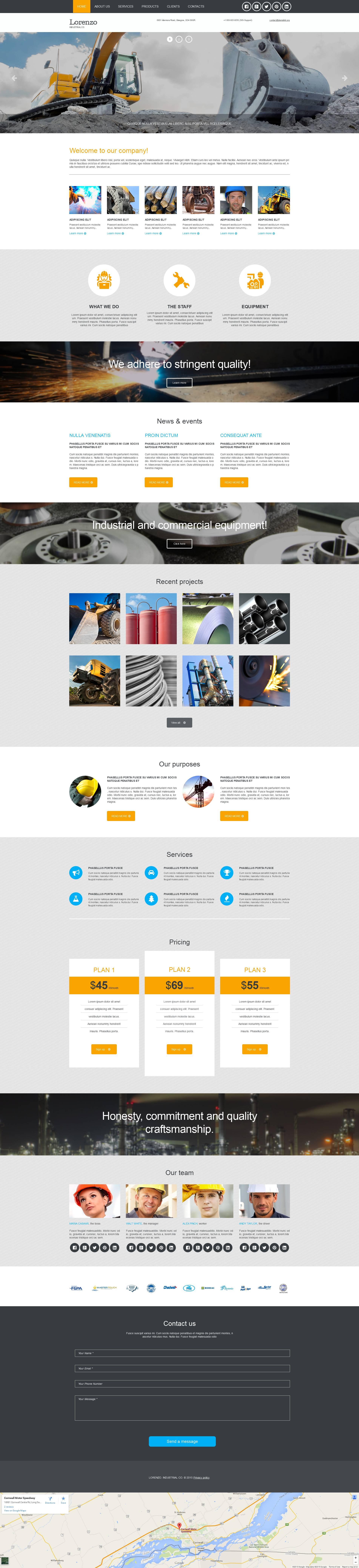 Templates Moto CMS 3 Flexível para Sites de Industrial №53238