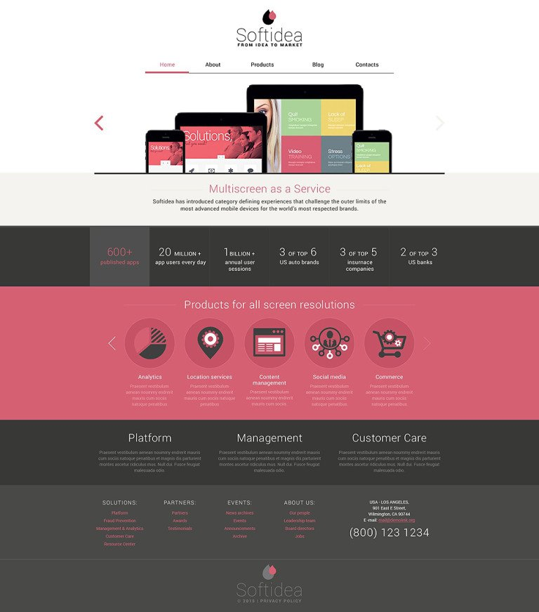 Web Development Responsive Drupal Template New Screenshots BIG
