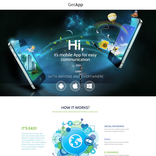 Get App - Web Development Responsive Landing Page Template