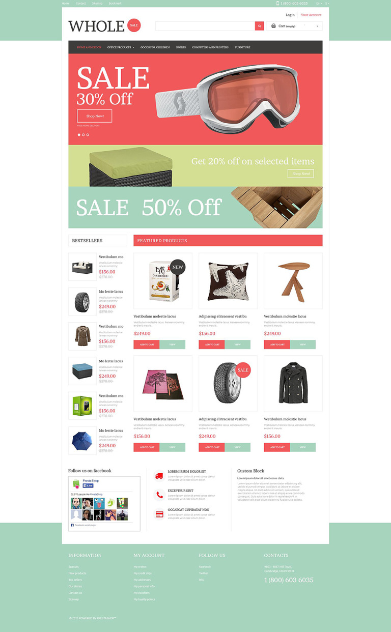 Wholesale Online PrestaShop Theme New Screenshots BIG
