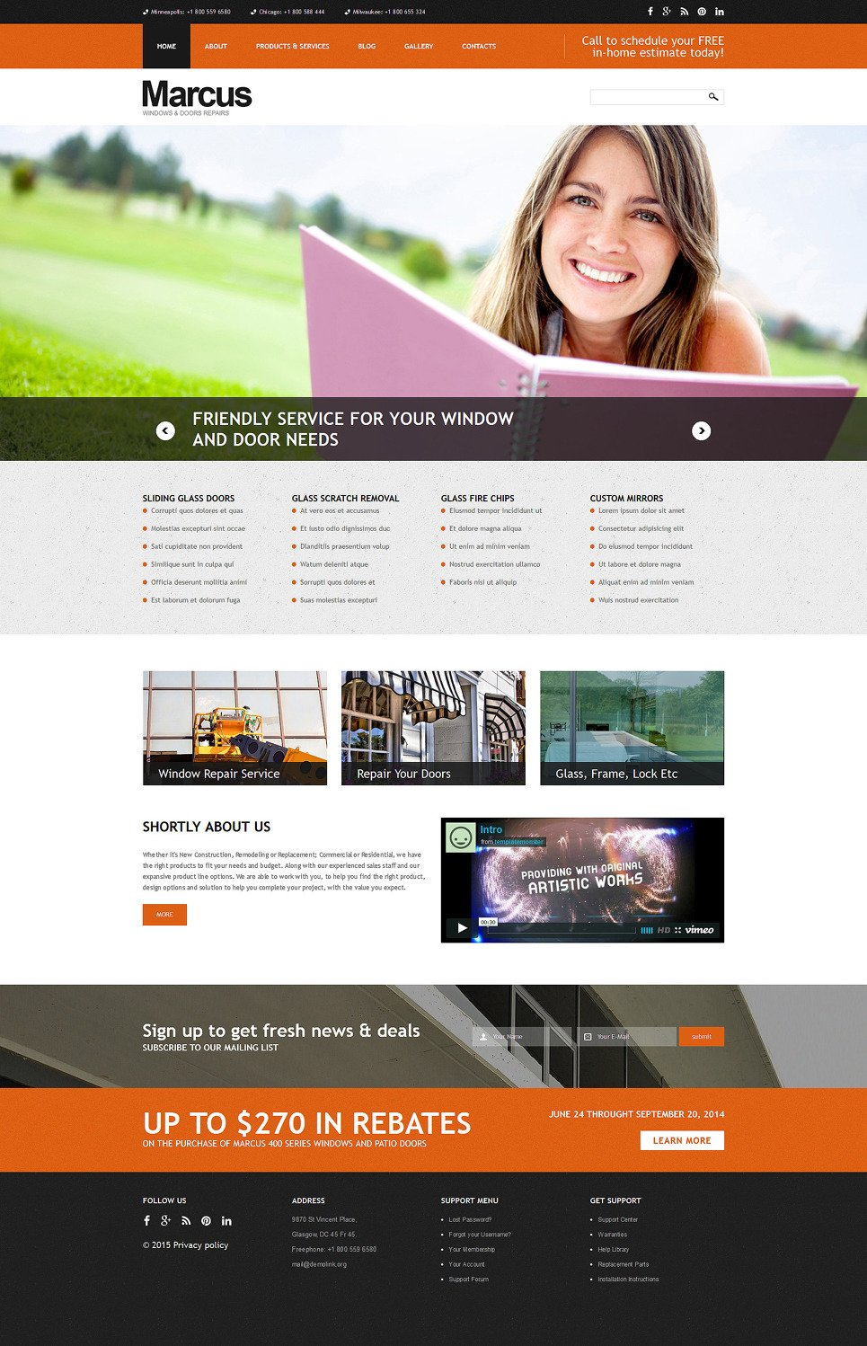 Window Door Repairs Joomla Template New Screenshots BIG