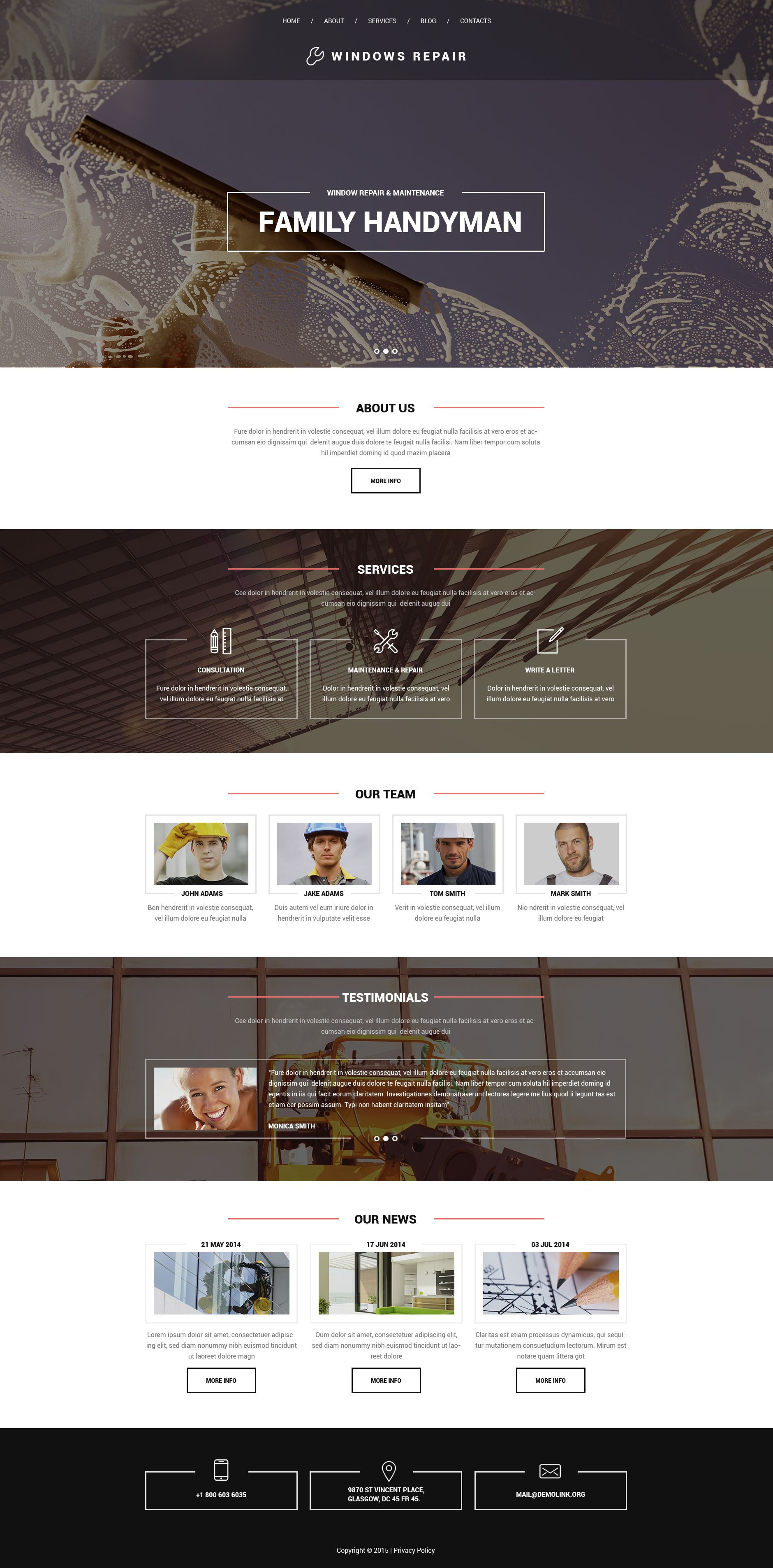 Window Repair Drupal Template - screenshot
