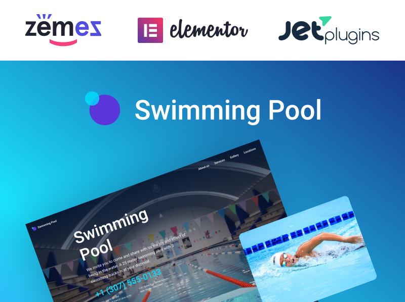 Responzivní WordPress motiv na téma Plavecký bazén New Screenshots BIG