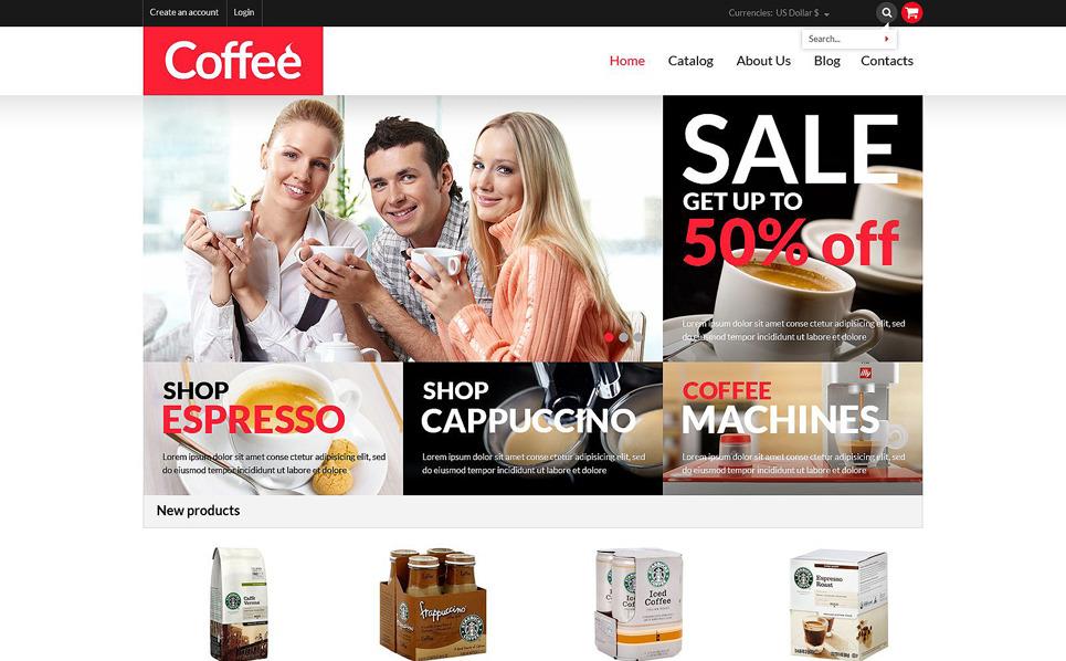 Reszponzív Kávébolt  VirtueMart sablon New Screenshots BIG