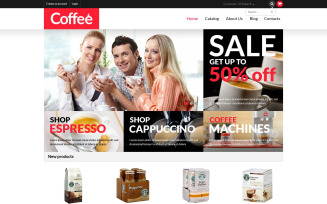 Coffee Shop VirtueMart Template