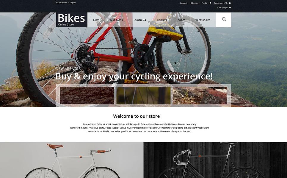 Responzivní PrestaShop motiv na téma Cyklistika New Screenshots BIG