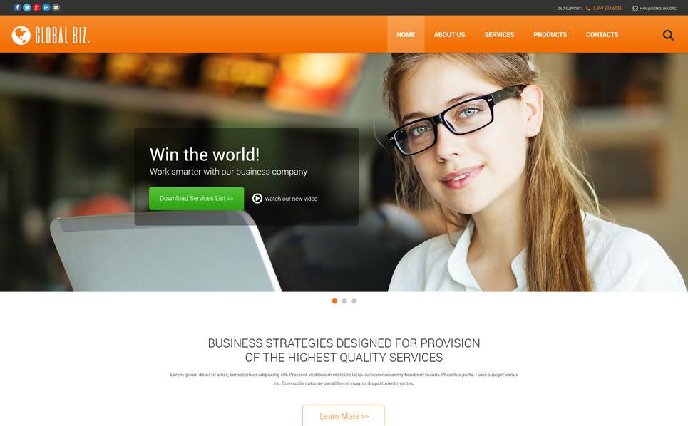 Responsive Website Vorlage für Business und Dienstleistungen New Screenshots BIG