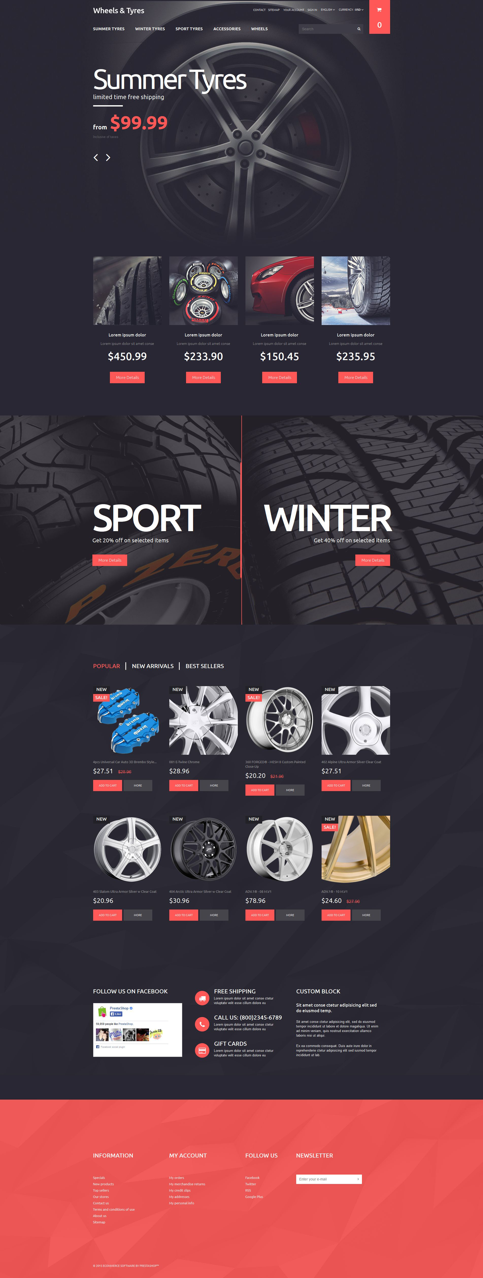The Tyres Tires & Wheels Online Store PrestaShop Design 53314, one of the best PrestaShop themes of its kind (cars, most popular), also known as tyres Tires & Wheels online store PrestaShop template, car PrestaShop template, automobile engine PrestaShop template, valves PrestaShop template, spares PrestaShop template, parts PrestaShop template, filter PrestaShop template, gauges PrestaShop template, styling PrestaShop template, shop PrestaShop template, shopping cart PrestaShop template, speed and related with tyres Tires & Wheels online store, car, automobile engine, valves, spares, parts, filter, gauges, styling, shop, shopping cart, speed, etc.