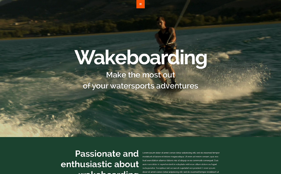 Reszponzív Wakeboard Weboldal sablon New Screenshots BIG