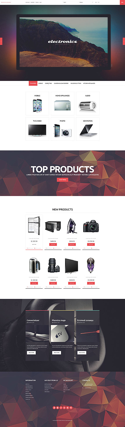Magento Theme/Template 53323 Main Page Screenshot