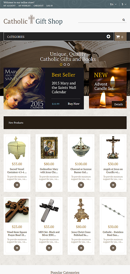 Magento Theme/Template 53324 Main Page Screenshot