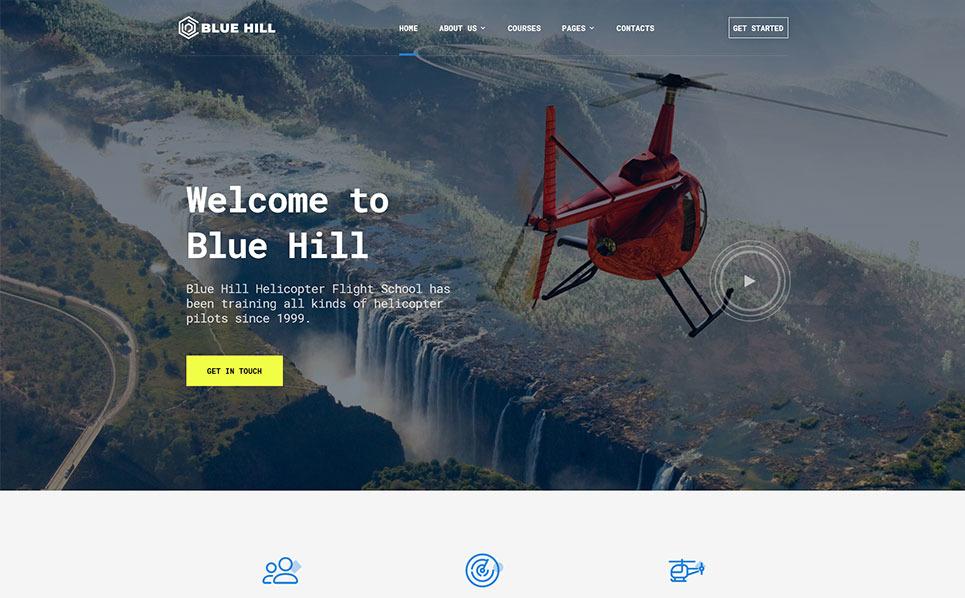 Responzivní Šablona webových stránek na téma Letecká škola New Screenshots BIG