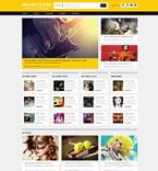 Entertainment Website  Template 53332