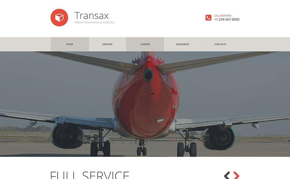 Responzivní Šablona webových stránek na téma Přeprava, Doprava New Screenshots BIG