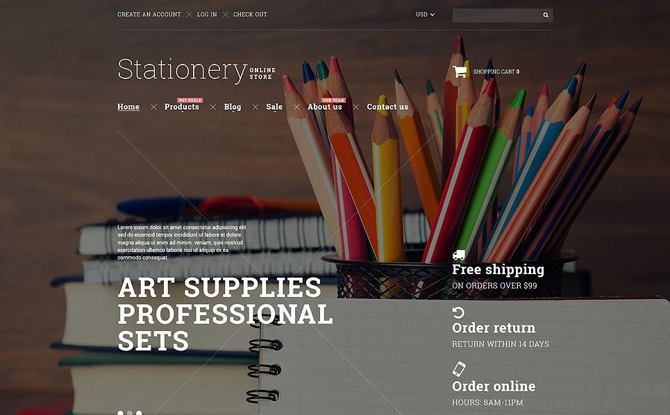 Responsive Shopify Thema over Kantoorbehoeften New Screenshots BIG