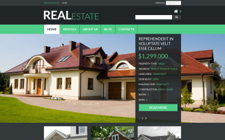 Real Estate Services VirtueMart Template