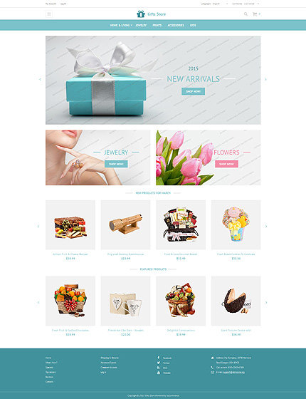 osCommerce Template 53355 Main Page Screenshot