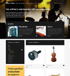 Music osCommerce  Template 53358