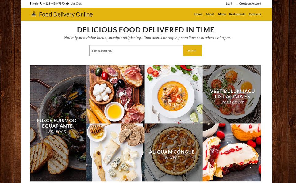 Responsywny szablon strony www #53360 na temat: usługi dostawcze New Screenshots BIG