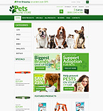 Animals & Pets ZenCart  Template 53363