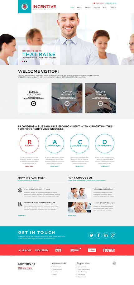 WordPress Theme/Template 53366 Main Page Screenshot