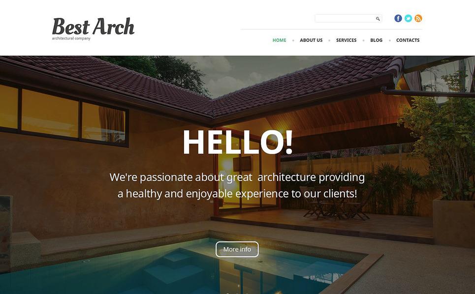 Reszponzív Építészet WordPress sablon New Screenshots BIG