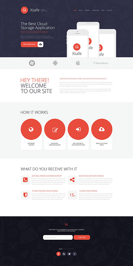 WordPress Theme/Template 53375 Main Page Screenshot