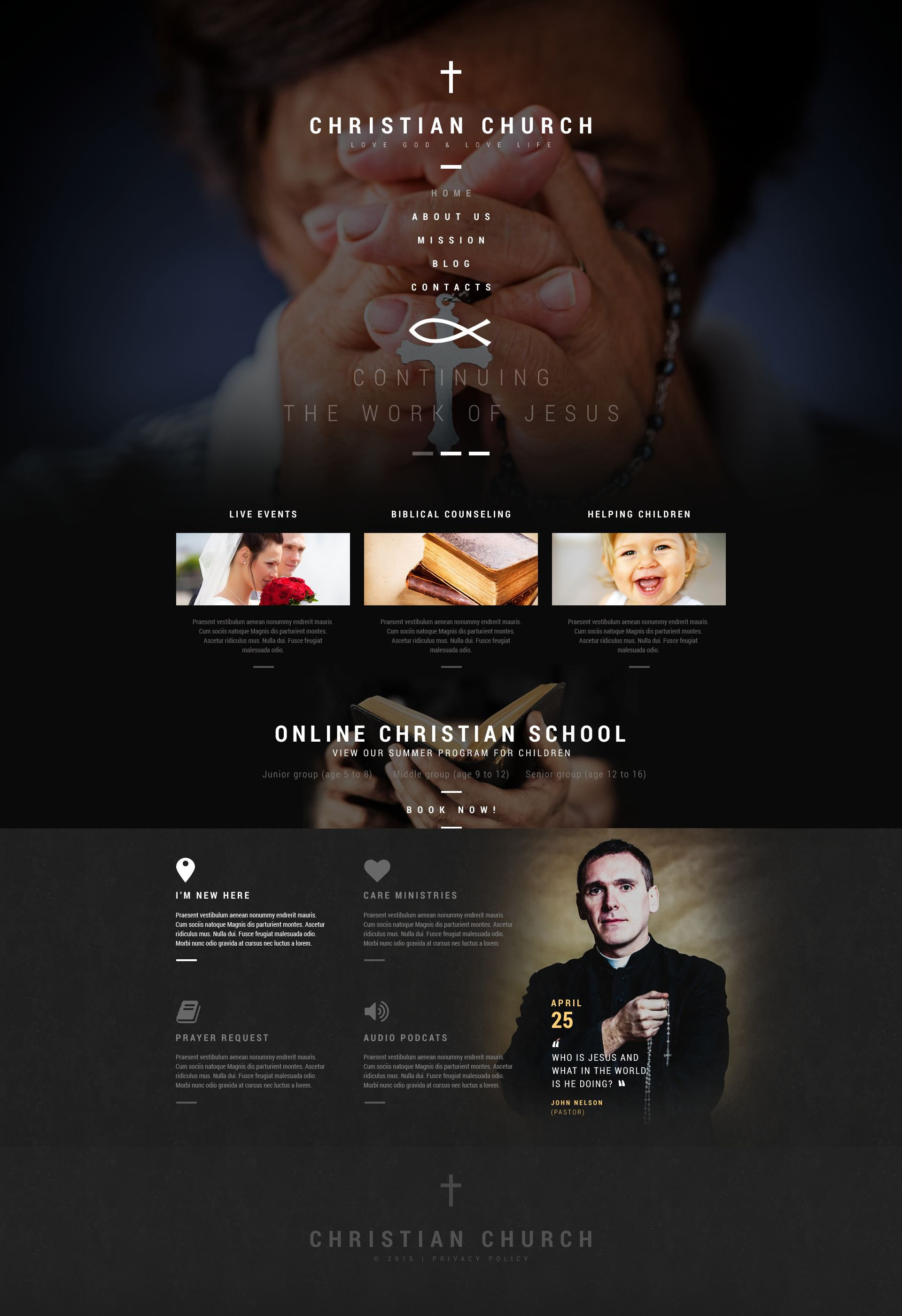 The Church Religious WordPress Design 53387, one of the best WordPress themes of its kind (wedding, most popular), also known as church religious WordPress template, religion WordPress template, God family care WordPress template, education WordPress template, Bible mission WordPress template, community WordPress template, sermon WordPress template, priest WordPress template, clergyman WordPress template, choir WordPress template, health WordPress template, Sunday school WordPress template, archive WordPress template, credence WordPress template, faith WordPress template, belief in God kindness WordPress template, confession WordPress template, homily WordPress template, sermon WordPress template, help WordPress template, support WordPress template, Christian catholic WordPress template, prayer and related with church religious, religion, God family care, education, Bible mission, community, sermon, priest, clergyman, choir, health, Sunday school, archive, credence, faith, belief in God kindness, confession, homily, sermon, help, support, Christian catholic, prayer, etc.