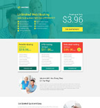 Web Hosting Landing Page  Template 53399
