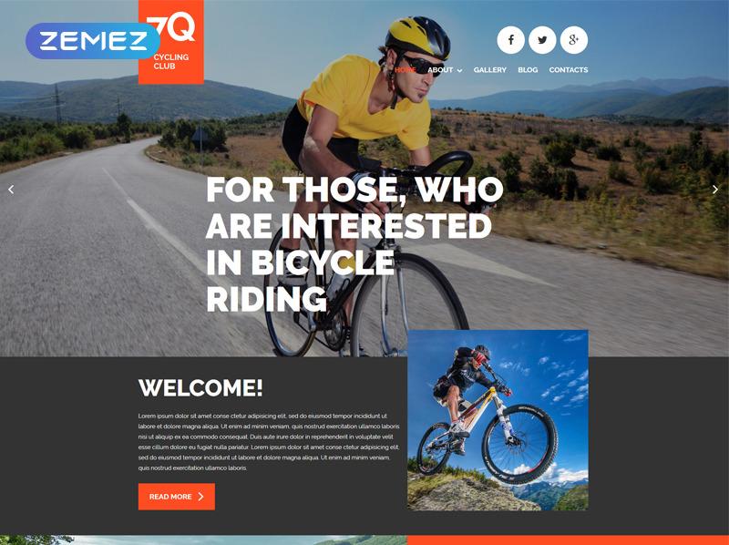 Адаптивний Joomla шаблон на тему велоспорт New Screenshots BIG
