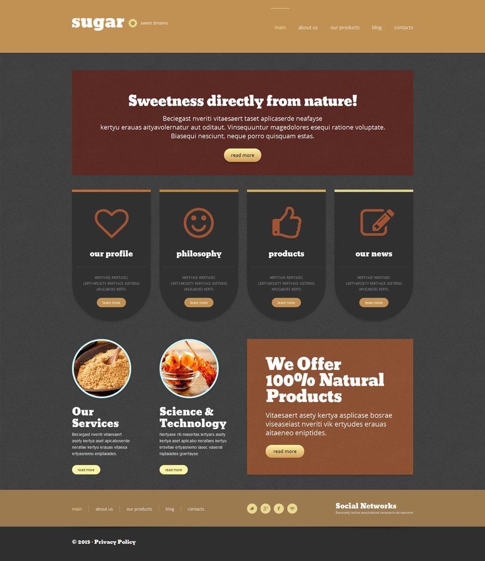 Адаптивный шаблон сайта на тему магазин еды #53303