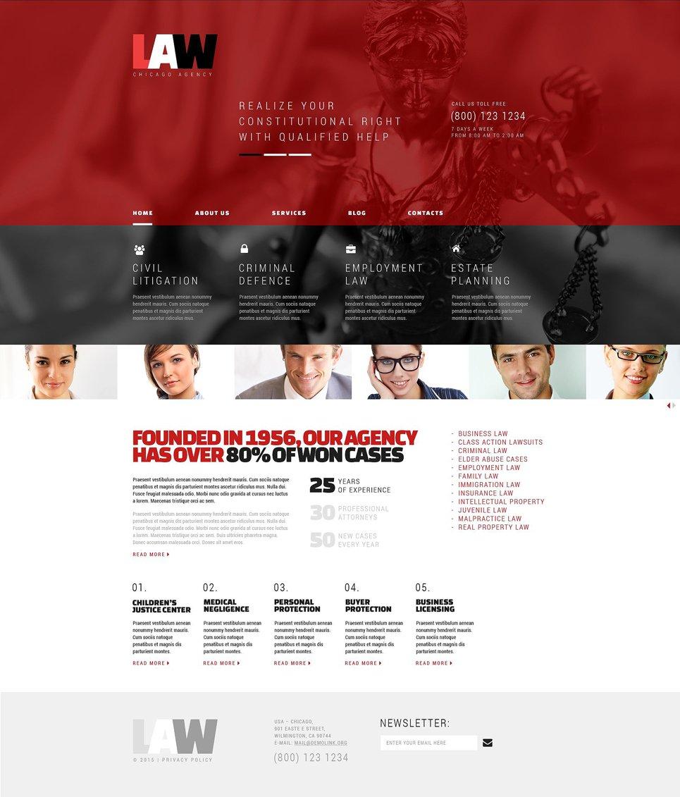 Адаптивный шаблон сайта на тему юридическая фирма #53371