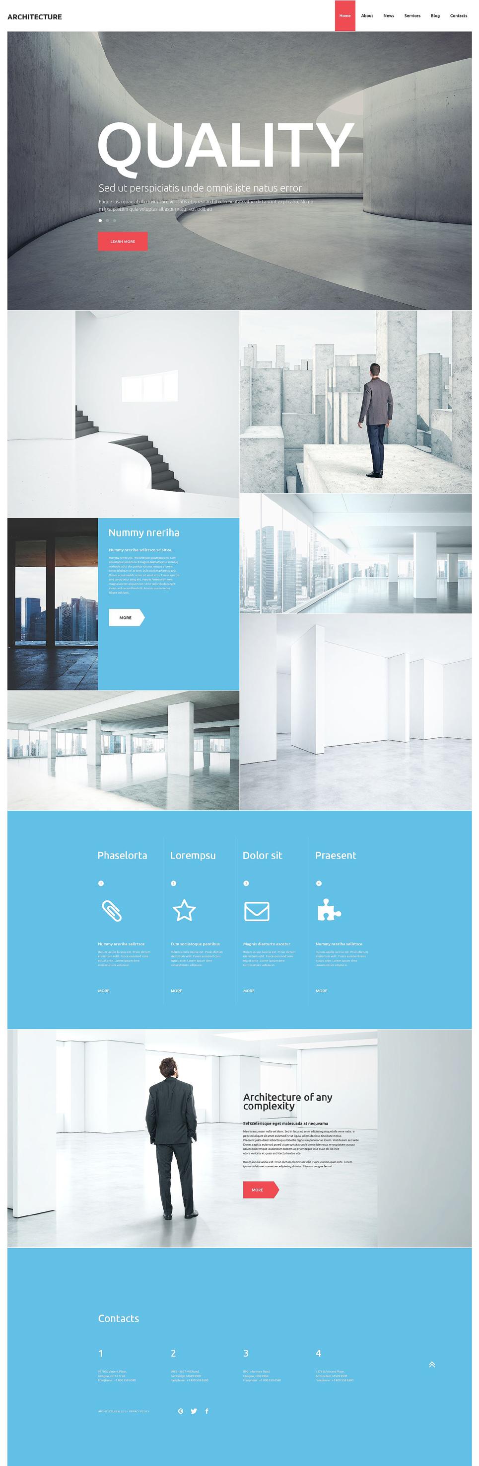 Адаптивный шаблон сайта на тему архитектура #53372