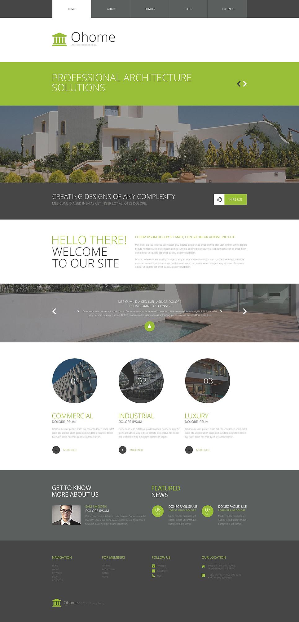 Адаптивный шаблон сайта на тему архитектура #53381