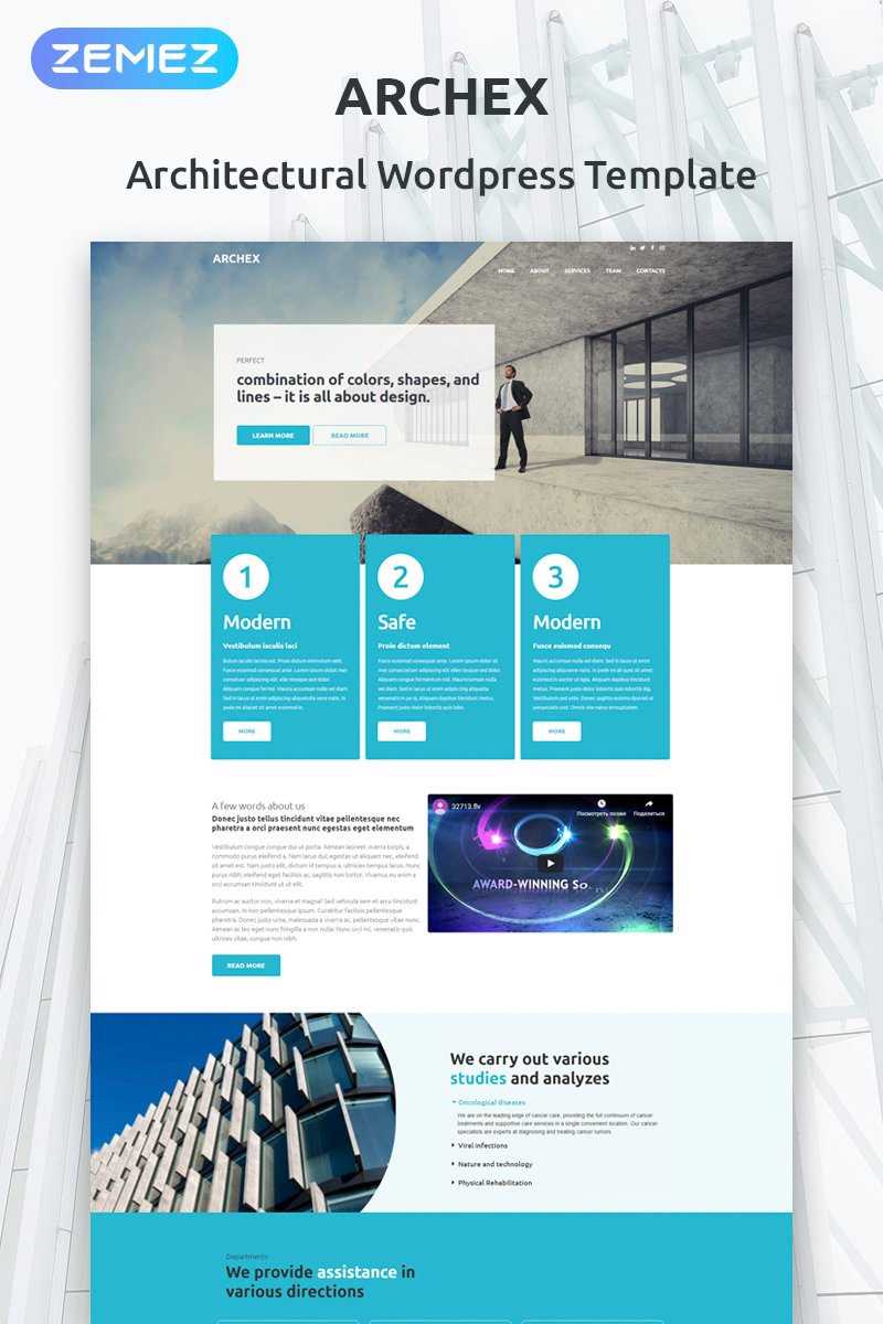 Architectural Finish Tema WordPress №53370