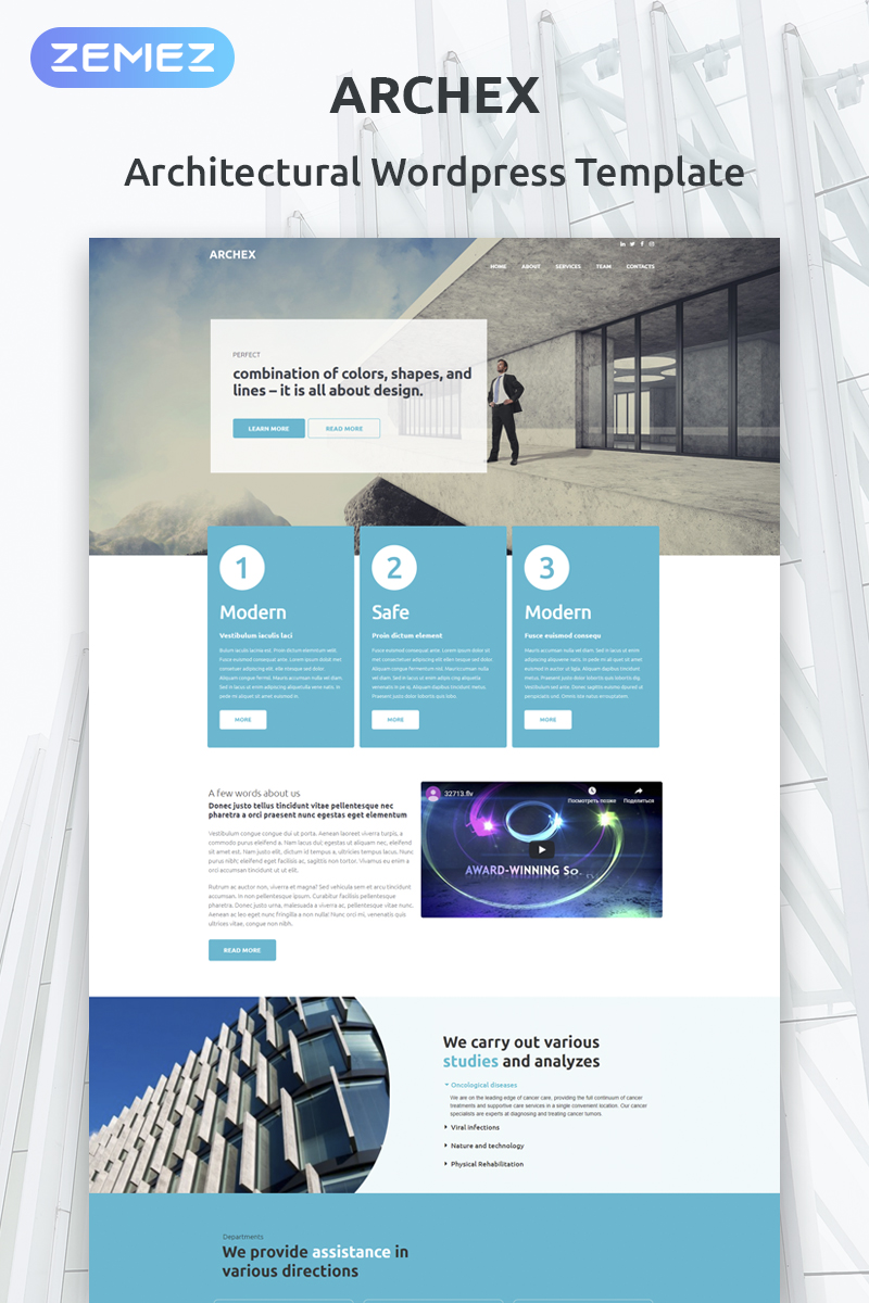 """Architectural Finish"" thème WordPress adaptatif #53370"