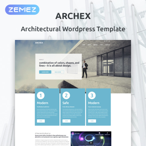 Archex - WordPress Template based on Bootstrap