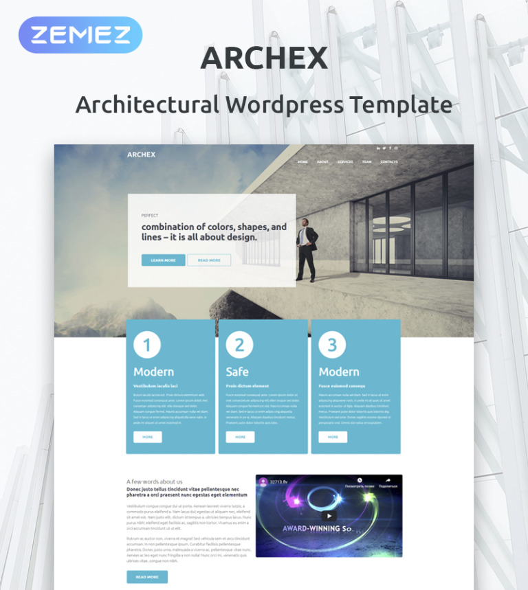 Architectural Finish WordPress Theme