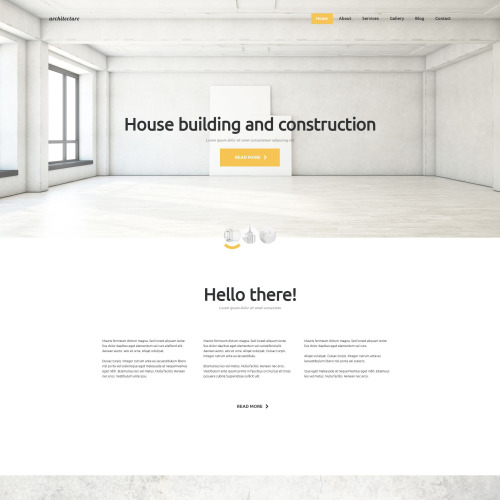 House builidng and construction - Joomla! Template based on Bootstrap