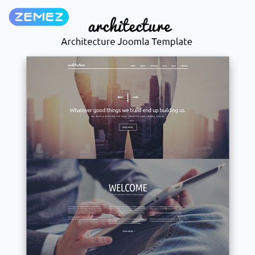 Architecture - Joomla! Template based on Bootstrap